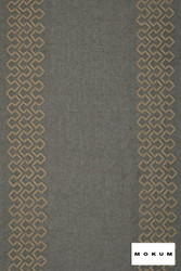 Mokum Tunisia(Ww) - Smoke  | Curtain Sheer Fabric - Grey, Geometric, Natural Fibre, Pattern, Transitional, Washable, Domestic Use, Dry Clean, Natural, Wide Width