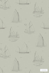 Linwood LW032 2 Biscay    Wallpaper, Wallcovering - Grey, Beach, Kids, Children, Midcentury, Domestic Use, Nautical