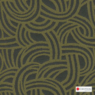 Crypton Route Cilantro  | Upholstery Fabric - Midcentury, Pattern, Synthetic, Commercial Use, Standard Width