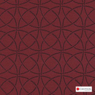 Crypton Trivia Brick  | Upholstery Fabric - Burgundy, Asian, Circlelink, Midcentury, Synthetic, Chinoise, Commercial Use, Standard Width