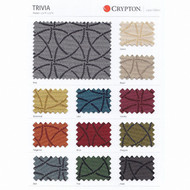Crypton Trivia Pine  | Upholstery Fabric - Grey, Circlelink, Midcentury, Synthetic, Commercial Use, Standard Width