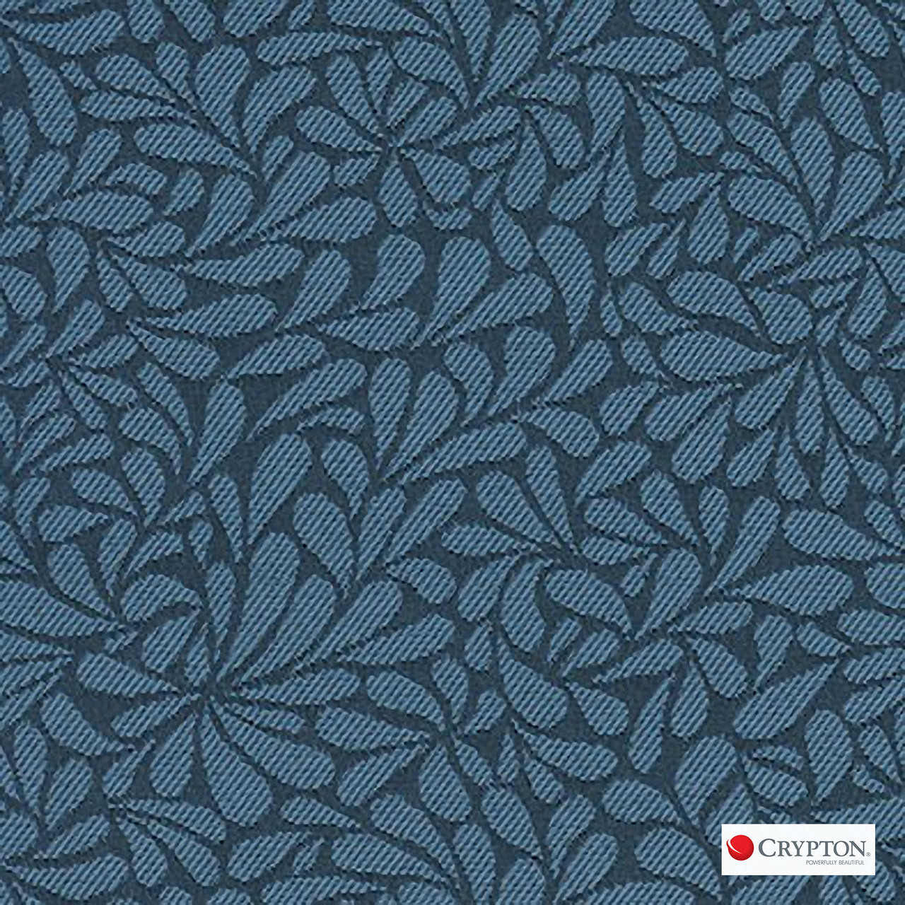 Crypton Twirl Bluebell  | Upholstery Fabric - Blue, Craftsman, Floral, Garden, Pattern, Synthetic, Commercial Use, Standard Width
