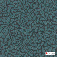 Crypton Twirl River  | Upholstery Fabric - Blue, Craftsman, Floral, Garden, Pattern, Synthetic, Commercial Use, Standard Width