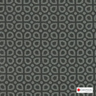 Crypton Dew Gravel  | Upholstery Fabric - Grey, Diaper, Foulard, Geometric, Midcentury, Small Scale, Synthetic, Commercial Use, Standard Width