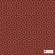 Crypton Dew Orange  | Upholstery Fabric - Terracotta, Diaper, Foulard, Midcentury, Small Scale, Synthetic, Commercial Use, Standard Width