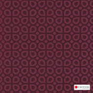 Crypton Dew Pink  | Upholstery Fabric - Burgundy, Diaper, Foulard, Midcentury, Small Scale, Synthetic, Commercial Use, Standard Width