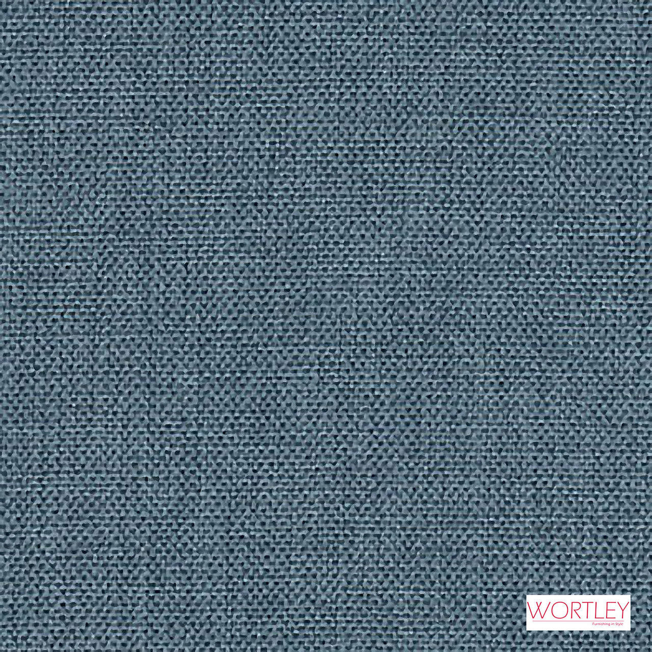 Wortley Group Access Denim  | Upholstery Fabric - Blue, Plain, Synthetic, Commercial Use, Standard Width