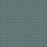 Willbro Italy Georgio Teal    Upholstery Fabric - Fibre Blends, Foulard, Small Scale, Traditional, Turquoise, Teal, Domestic Use, Houndstooth, Standard Width