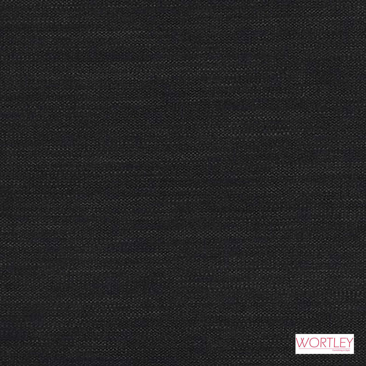 Wortley Group Maison Onyx  | Upholstery Fabric - Plain, Black - Charcoal, Fibre Blends, Domestic Use, Standard Width