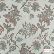 Wortley Group Canterbury Mulberry  | Upholstery Fabric - Grey, Fibre Blends, Floral, Garden, Jacobean, Traditional, Transitional, Domestic Use, Standard Width