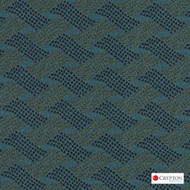 Crypton Cruise Atlantic  | Upholstery Fabric - Blue, Basketweave, Midcentury, Synthetic, Commercial Use, Standard Width