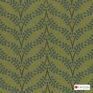 Crypton Lantana Aloe  | Upholstery Fabric - Midcentury, Pattern, Synthetic, Commercial Use, Standard Width
