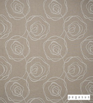 Pegasus Engrave - Chalk  | Curtain Fabric - Brown, Floral, Garden, Geometric, Midcentury, Natural Fibre, Washable, Abstract, Domestic Use, Dry Clean, Natural, Standard Width