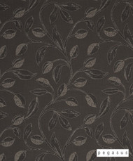 Pegasus Iriska - Graphite    Curtain Fabric - Craftsman, Deco, Decorative, Fibre Blends, Floral, Garden, Midcentury, Tan, Taupe, Washable, Domestic Use, Dry Clean, Top of Bed