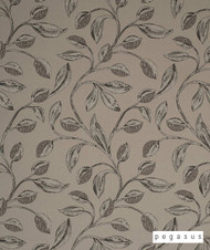 Pegasus Iriska - Stone    Curtain Fabric - Craftsman, Deco, Decorative, Fibre Blends, Floral, Garden, Midcentury, Tan, Taupe, Washable, Domestic Use, Dry Clean, Top of Bed
