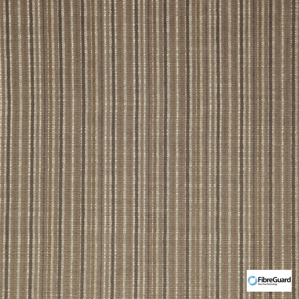 Fibreguard - Oviedo Clay  | Upholstery Fabric - Brown, Fire Retardant, Plain, Stripe, Synthetic, Chenille, Commercial Use, Domestic Use, Railroaded, Standard Width