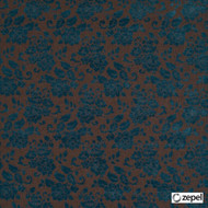 Zepel Fabrics - Rotundas Praline  | Upholstery Fabric - Blue, Brown, Floral, Garden, Synthetic, Commercial Use, Oeko-Tex,  Standard Width