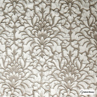Fabric Library - Shape Peyote  | Curtain & Upholstery fabric - Brown, White, Damask, Eclectic, Floral, Garden, Synthetic, Commercial Use, Domestic Use, White, Standard Width