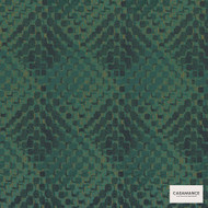Casamance Fabrics & Wallpapers - Lou Lou 3920 06 62  | Curtain & Upholstery fabric - Green, Contemporary, Diamond, Harlequin, Jacquards, Geometric