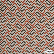 Zepel Fabrics - Gridlock Burnt Orange  | Upholstery Fabric - Orange, Railroaded, Geometric, Oeko-Tex, Decorative, Standard Width