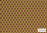 Fr One Fabrics - Zaza Fr Jewel  | Curtain & Upholstery fabric - Fire Retardant, Gold,  Yellow, Diaper, Geometric, Midcentury, Synthetic, Commercial Use, Oeko-Tex, Railroaded