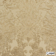 Zepel Fabrics - Palatial Taupe  | Curtain & Upholstery fabric - Beige, Damask, Synthetic, Commercial Use, Oeko-Tex,  Standard Width