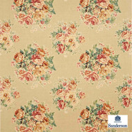 Sanderson Weybridge DVIPWE203    Curtain & Upholstery fabric - Gold,  Yellow, Farmhouse, Floral, Garden, Natural Fibre, Domestic Use, Natural, Standard Width, Shabby Chic