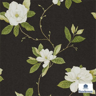 Sanderson Sweet Bay DPFWSW103  | Wallpaper, Wallcovering - Brown, Black - Charcoal, Farmhouse, Floral, Garden, Domestic Use