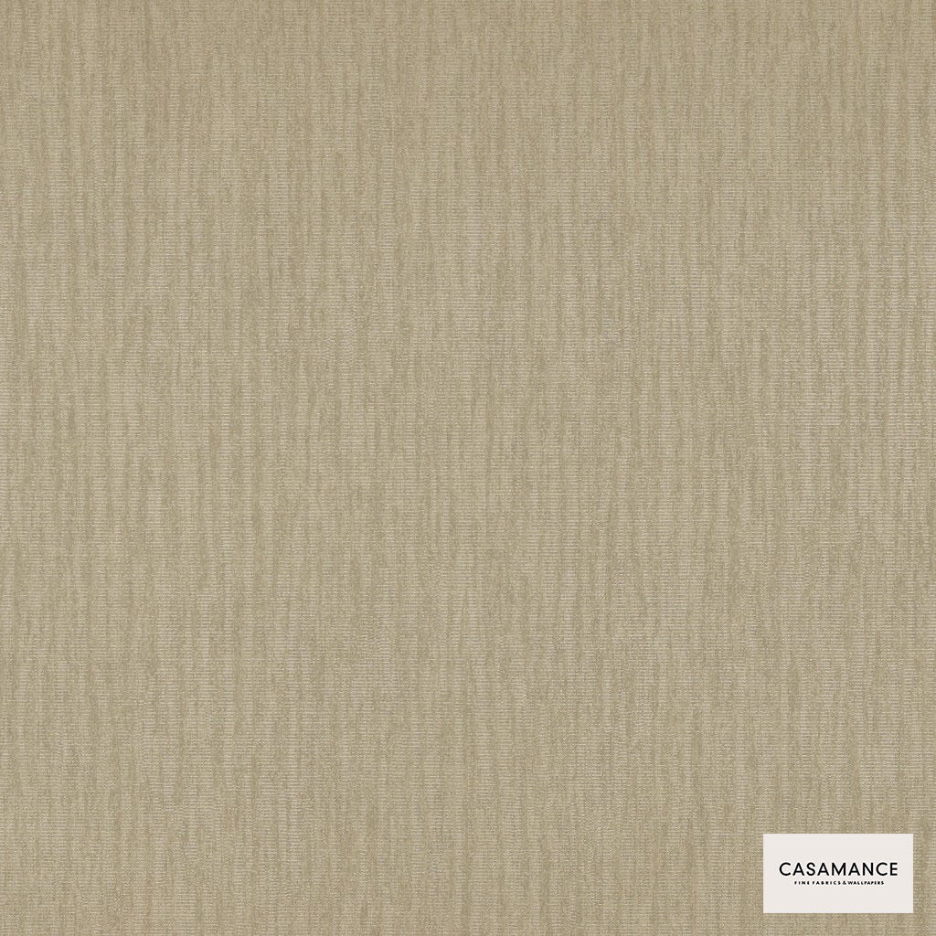Casamance Fabrics & Wallpapers - Mayfair Plain Wallpaper 7338 7338 05 08  | Wallpaper, Wallcovering - Beige, Oeko-Tex, Plain, Strie, Fibre Blend