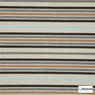 Fibreguard - Biscayne Earth  | Upholstery Fabric - Black, Charcoal, Blue, Brown, Grey, Stripe, Railroaded, Standard Width
