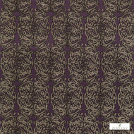 Zoffany Tespi 332163  | Curtain & Upholstery fabric - Art Noveau, Craftsman, Damask, Eclectic, Fibre Blends, Pink, Purple, Traditional, Domestic Use, Semi-Plain