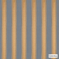 Fabric Library - Mundo Rhum  | Curtain & Upholstery fabric - Gold, Yellow, Stripe, Fibre Blend, Standard Width