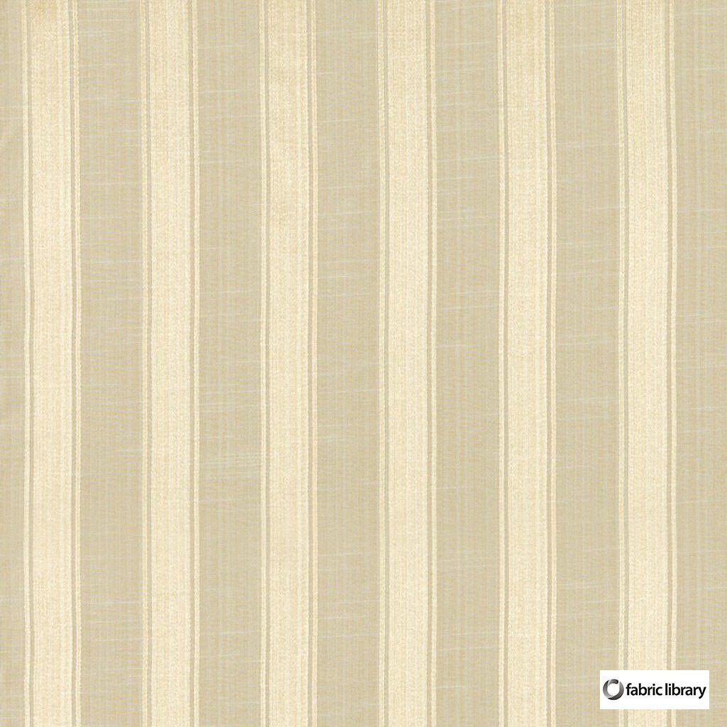 Fabric Library - Mundo Whitecap  | Curtain & Upholstery fabric - Beige, Stripe, Fibre Blend, Standard Width
