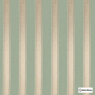 Fabric Library - Mundo Misty Jade  | Curtain & Upholstery fabric - Green, Stripe, Fibre Blend, Standard Width