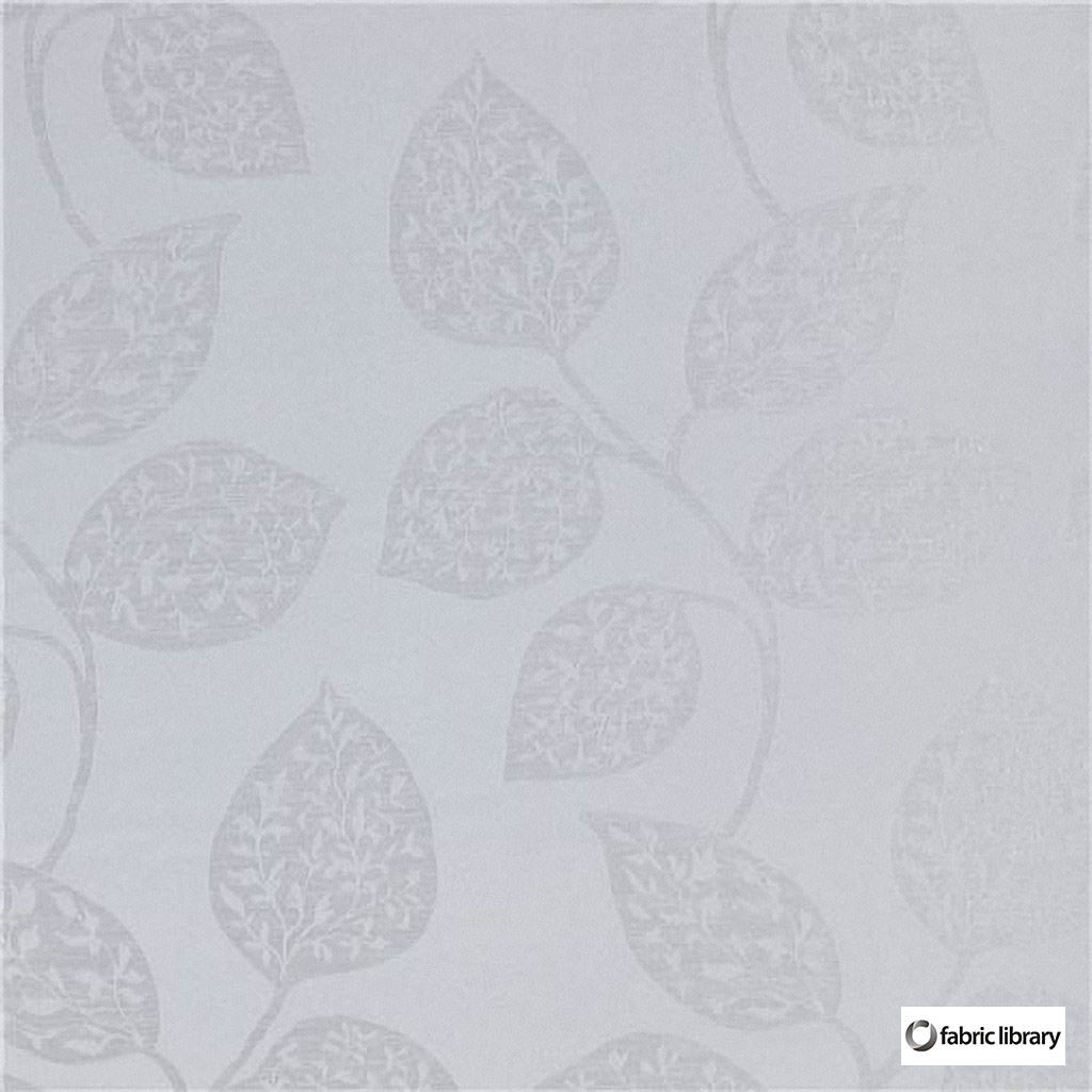 Fabric Library - Formentera Mist  | Curtain & Upholstery fabric - Grey, White, Floral, Garden, Synthetic, Commercial Use, Domestic Use, Oeko-Tex, White, Standard Width