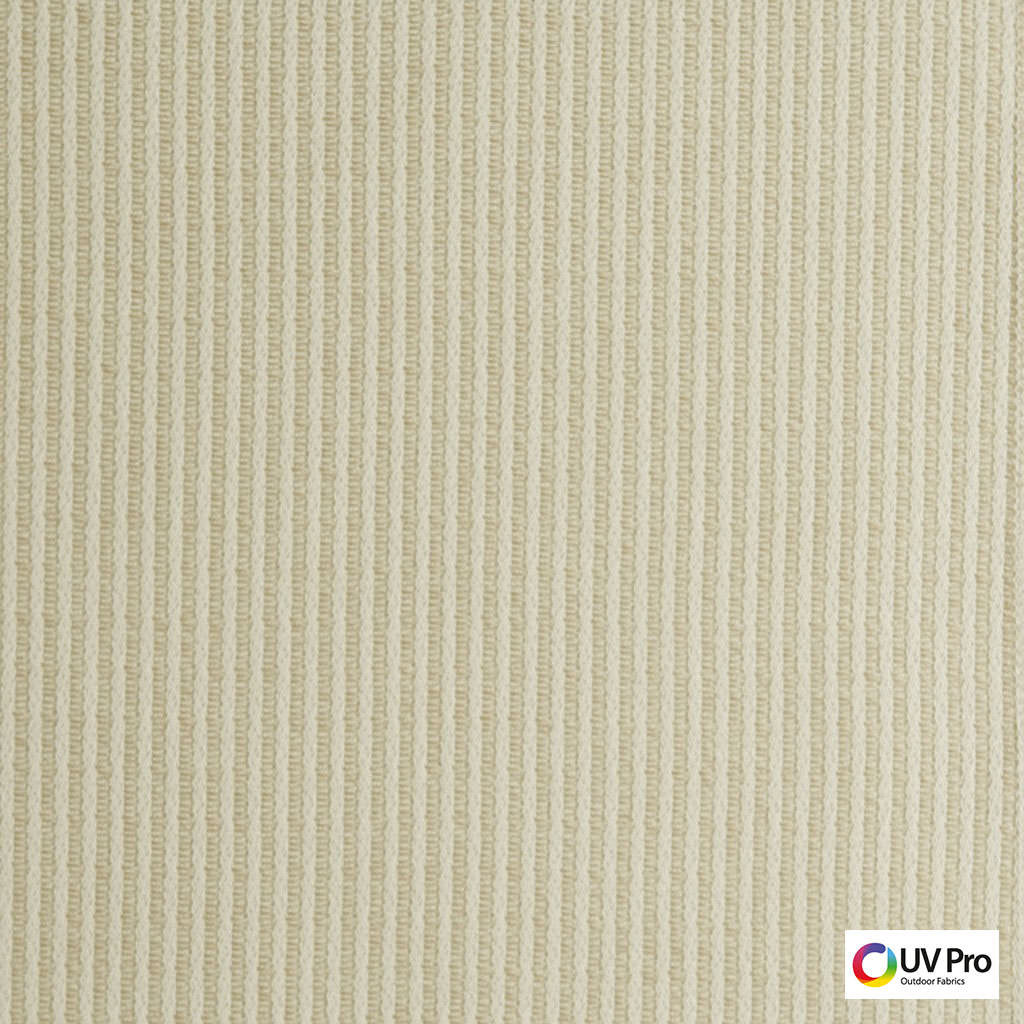 Uv Pro Fabrics - Break Nougat  | Curtain & Upholstery fabric - Outdoor Use, Stripe, Synthetic, Commercial Use, Oeko-Tex,  Standard Width