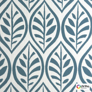 Uv Pro Fabrics - Jump Hydro  | Curtain & Upholstery fabric - Blue, Floral, Garden, Midcentury, Ogee, Outdoor Use, Synthetic, Commercial Use, Oeko-Tex,  Standard Width
