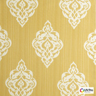 Uv Pro Fabrics - Outer Buttercup  | Curtain & Upholstery fabric - Gold,  Yellow, Medallion, Outdoor Use, Synthetic, Commercial Use, Oeko-Tex,  Standard Width