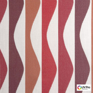 Uv Pro Fabrics - Ray Grenadine  | Curtain & Upholstery fabric - Geometric, Midcentury, Outdoor Use, Synthetic, Commercial Use, Oeko-Tex,  Standard Width