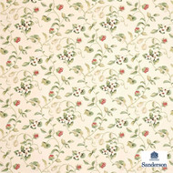 Sanderson Orchard Blossom DAPGOR203  | Curtain & Upholstery fabric - Craftsman, Farmhouse, Floral, Garden, Natural Fibre, Domestic Use, Natural, Standard Width