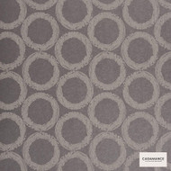 Casamance Fabrics & Wallpapers - Holmia Metallum Sphaera W/P 949... 949 03 36  | Wallpaper, Wallcovering - Geometric, Midcentury, Natural Fibre, Pink, Purple, Natural, Circles
