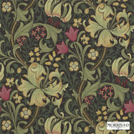 Morris and Co - Golden Lily 210403  | Wallpaper, Wallcovering - Art Noveau, Craftsman, Floral, Garden, Tropical, Domestic Use