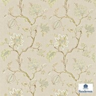 Sanderson Hadham 232093  | Curtain Fabric - Beige, Craftsman, Fibre Blends, Floral, Garden, Jacobean, Traditional, Domestic Use, Standard Width