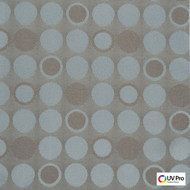 Uv Pro Fabrics - Fjord Duckegg  | Curtain & Upholstery fabric - Brown, Grey, Geometric, Outdoor Use, Synthetic, Commercial Use, Dots, Spots, Oeko-Tex,  Circles