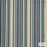 Uv Pro Fabrics - Gulf Captain  | Curtain & Upholstery fabric - Blue, Outdoor Use, Stripe, Synthetic, Commercial Use, Oeko-Tex,  Standard Width