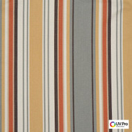 Uv Pro Fabrics - Reef Jewel  | Curtain & Upholstery fabric - Gold,  Yellow, Grey, Multi-Coloured, Outdoor Use, Stripe, Synthetic, Traditional, Commercial Use, Oeko-Tex