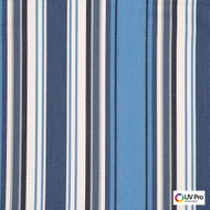 Uv Pro Fabrics - Reef Nautical  | Curtain & Upholstery fabric - Blue, Outdoor Use, Stripe, Synthetic, Traditional, Commercial Use, Oeko-Tex,  Standard Width