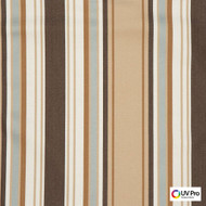 Uv Pro Fabrics - Reef Pecan  | Curtain & Upholstery fabric - Brown, Outdoor Use, Stripe, Synthetic, Traditional, Commercial Use, Oeko-Tex,  Standard Width