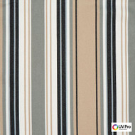 Uv Pro Fabrics - Reef Graphite  | Curtain & Upholstery fabric - Grey, Outdoor Use, Stripe, Synthetic, Traditional, Commercial Use, Oeko-Tex,  Standard Width