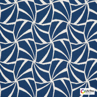 Uv Pro Fabrics - Solace Wind  | Curtain & Upholstery fabric - Blue, Check, Geometric, Outdoor Use, Synthetic, Commercial Use, Oeko-Tex,  Standard Width, Mosaic